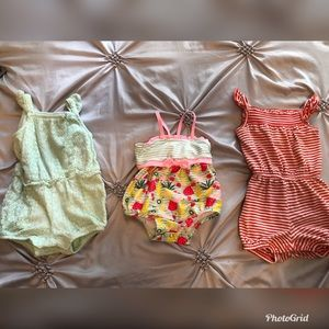 Baby girl rompers and swimsuit